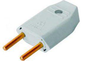 Plug Macho Perlex 2p Cinza 1046 20 À 250V Kit com 10 Unidades