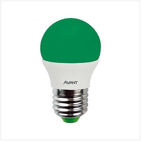 Lâmpada Avant Super LED Bolinha 4W Verde Kit com 10 Unidades
