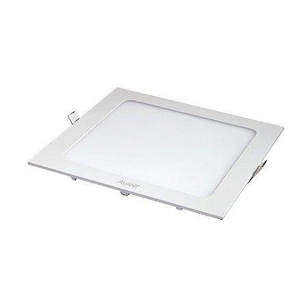 Luminária Avant Painel Quadrado LED 24W de Embutir