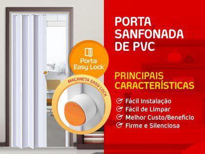 Porta Sanfonada Araforros 2,10 X 80 Cinza