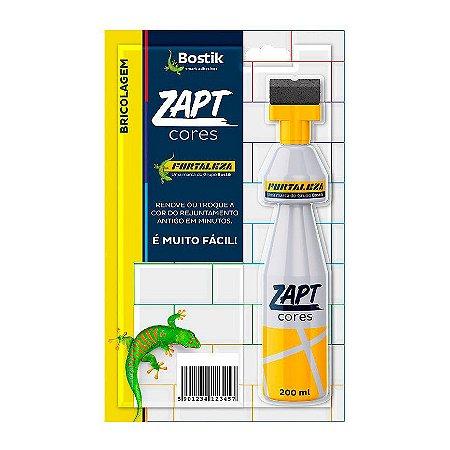 Tinta para Rejunte Zapt Cores 200ml Cinza