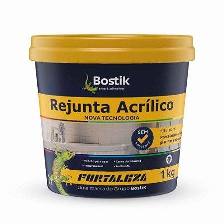 Rejunte Acrílico Fortaleza para Porcelanato Cinza Pote com 1kg