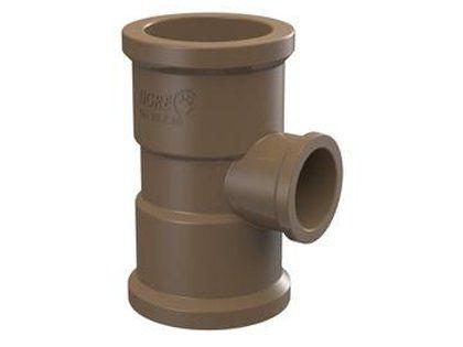 Tê de Redução Tigre Soldável PVC 50 x 32mm Embalagem com 12 Unidades