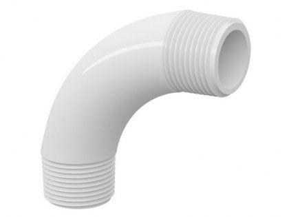 """Curva 90° Tigre PVC Roscável Branca 1"""""""