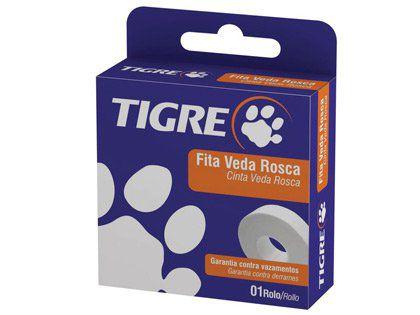 Fita Veda Rosca Tigre 18x25mm Caixa com 28 Unidades