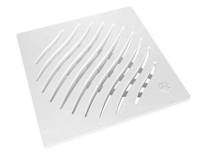 Grelha de PVC Tigre Ecológica Quadrada Branca 150mm