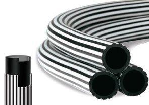 """Mangueira AFA Bicolor Preto e Branco 1/2"""" x 1,5mm com 50 Metros"""