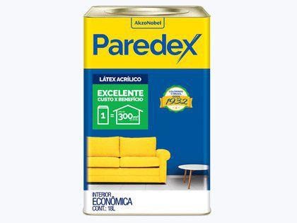 Tinta Acrílica Paredex Coral Lata 18L Gelo