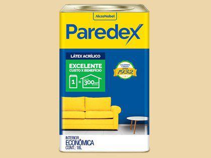 Tinta Acrílica Paredex Coral Lata 18L Amarelo Acácia