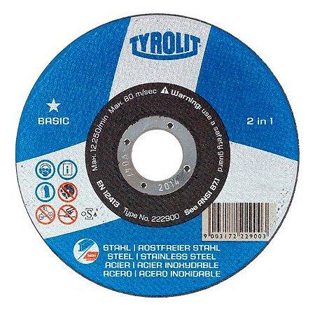 Disco de Corte Tyrolit Basic para Aço Inox 115x1.0x22mm