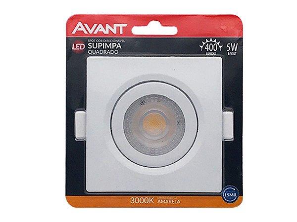 Spot Avant com Lâmpada Led Amarela Quadrado 5w 3000K