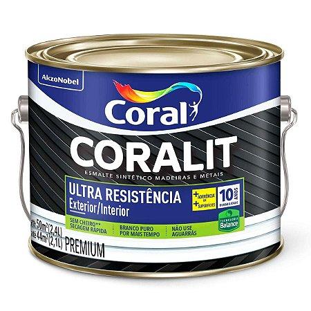 Esmalte Sintético Coralit Ultra Resistência Balance Acetinado Branco Galão 2,4 Litros