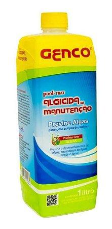 Algicida Genco de Manutenção Previne Algas 1 Litro