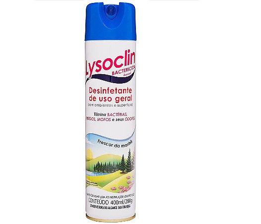 Desinfetante Aerosol Bactericida Uso Geral Lysoclin 400ml 280g