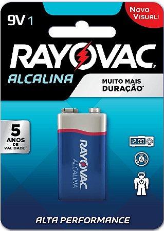 Bateria Pilha Rayovac 9V Alcalina Alta Performance
