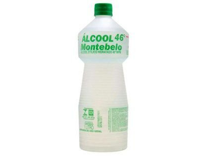 Álcool Liquido Montebelo 46º para Limpeza Geral 1 Litro Caixa com 12 Unidades