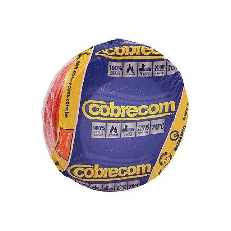Fio Flexível Cobrecom 6,0mm 450/750v Vermelho Rolo com 100 Metros
