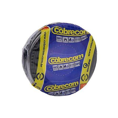 Fio Flexível Cobrecom Antichama 1,5mm 450/750v Preto Rolo com 100 Metros