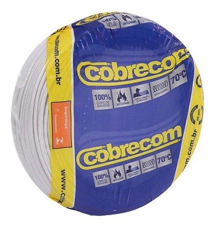 Fio Flexível Cobrecom 2,5mm 450/750v Branco Rolo com 100 Metros