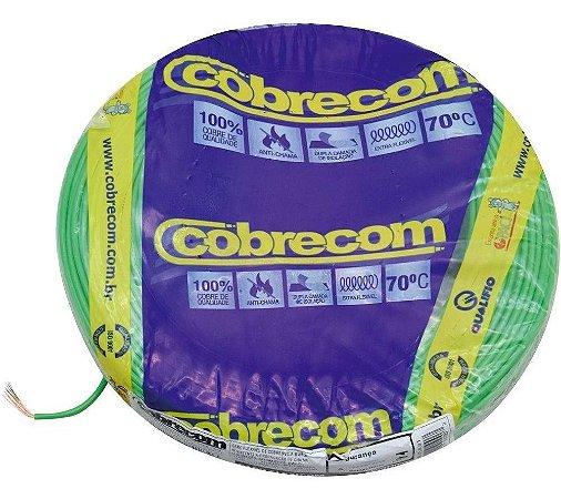 Fio Flexível Cobrecom 2,5mm 450/750v Verde Rolo com 100 Metros
