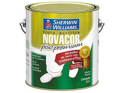 Tinta  Acrílica Nova Cor Piso Premium Vermelho Galão 3,6 Litros