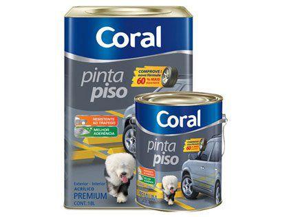 Tinta Pinta Piso Coral Premium Branco Lata 18 Litros