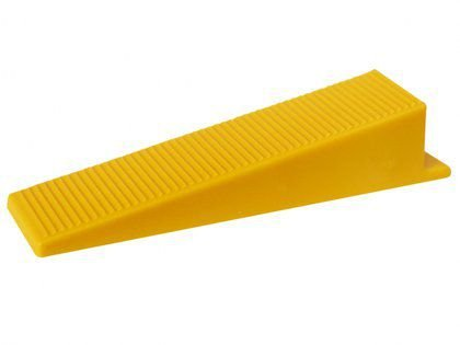 Cunha para Espaçador Nivelador Cortag  Amarelo com 50 Unidades