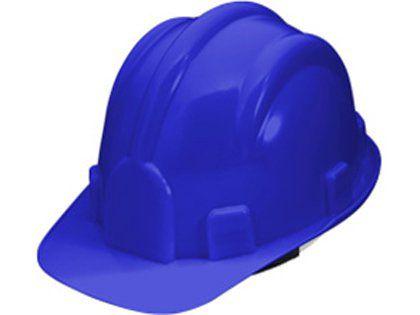 Capacete de Segurança Plastcor com Carneira Azul Escuro