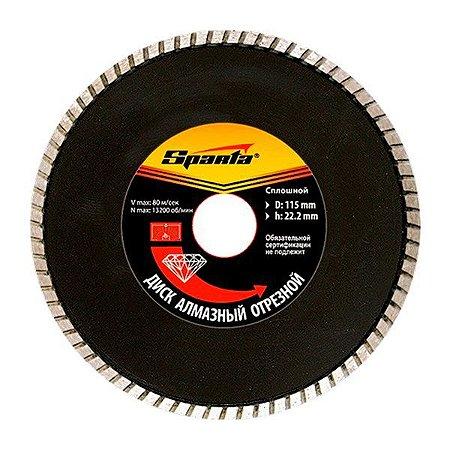 Disco De Corte Sparta Diamantado Turbo 115 X 22.2 mm