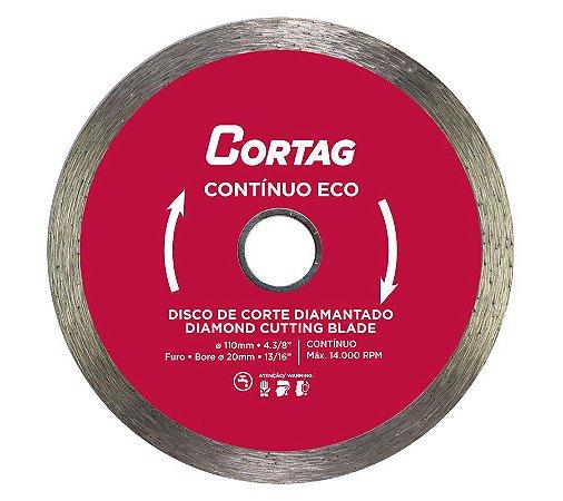 Disco de Corte Cortag Diamantado Contínuo Eco 110 X 20 mm