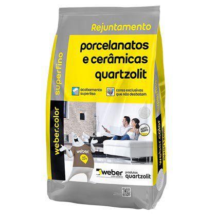 Rejunte Quartzolit para Porcelanato Preto Grafite 15 Sacos com 01 Kg cada