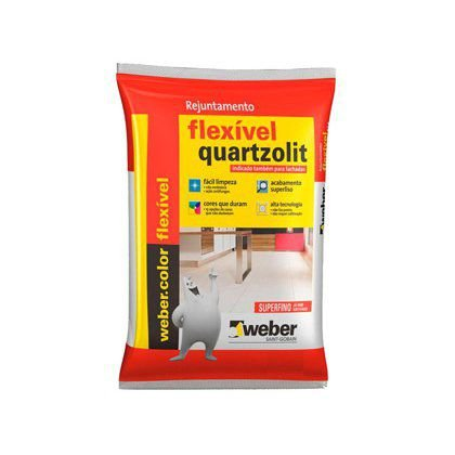 Rejunte Flexível Quartzolit Marrom Tabaco 15 Sacos com 01 Kg Cada