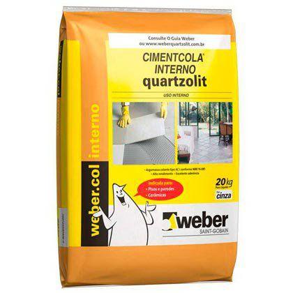 Argamassa Quartzolit para Pisos e Revestimentos tipo ACI uso Interno Pacote com 20 kg