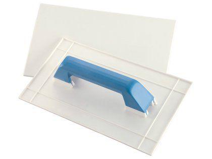 Desempenadeira Plástica Roma Branca para Textura 14X27cm Embalagem com 12 Unidades