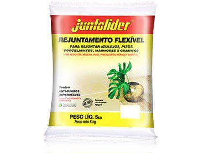 Rejunte Flexível Juntalider Branco 20 Sacos com 1 Kg Cada