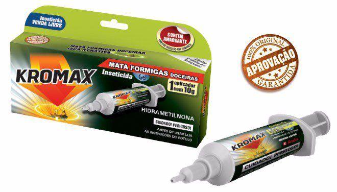 Isca Mata Formiga Kromax Gel Aplicador com 10 g