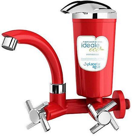 Torneira de Parede com Filtro Ideale ABS Eco Móvel Vermelha