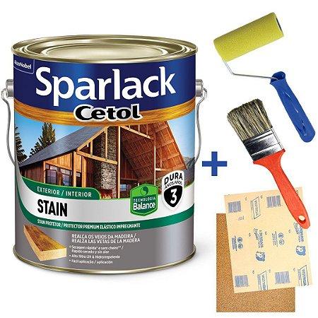 Kit Verniz Cetol Sparlack Balance Acetinado Exterior e Interior Imbuía Galão 3,6 Litros