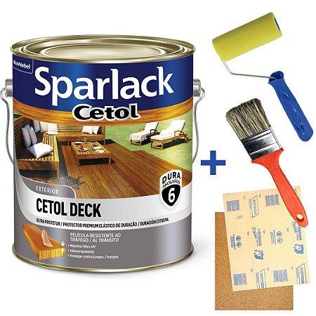 Kit Verniz Cetol Sparlack Super Premium Deck Natural Galão 3,6 Litros