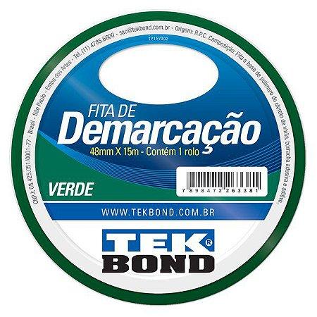 Fita para Demarcação Tek Bond Verde 48mmx15m
