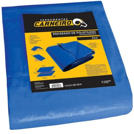 Lona de Polietileno Carneiro 6x4m Azul