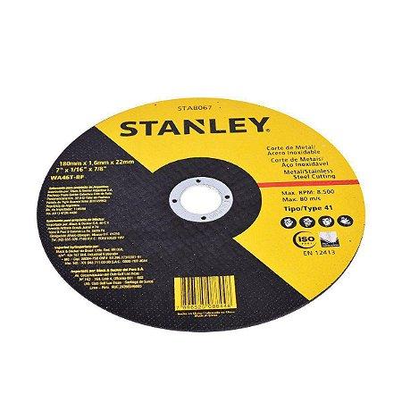 Disco de Corte Stanley para Ferro 180 x 3,0 x 22mm