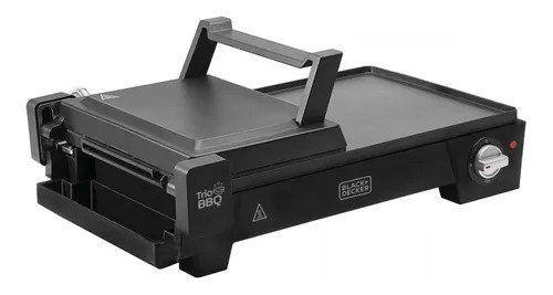 Grill Black Decker G2200 3 em 1 com Abertura de 180º 110v 1500w
