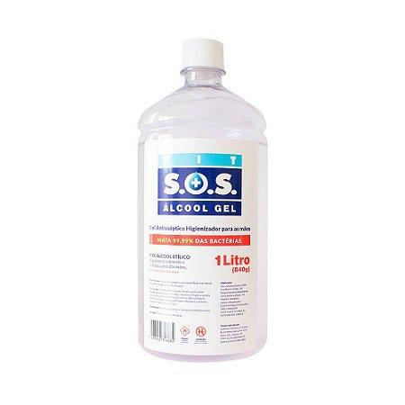 Álcool Gel Antisséptico 70% SOS Veda Tudo 01 Litro