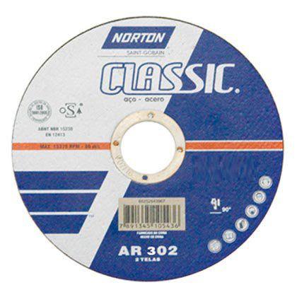 Disco de Corte Norton Classic AR302 115x3,0x22,2mm