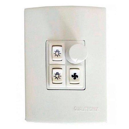 Controle para Ventilador e Lampada Qualitronix Qv372 Branco