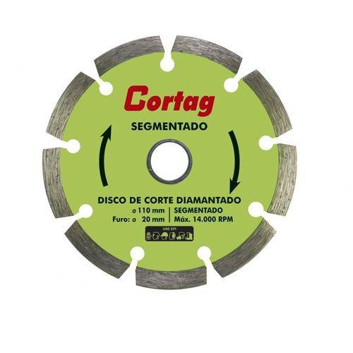 Disco Diamantado Cortag Segmentado ECO 110x20mm