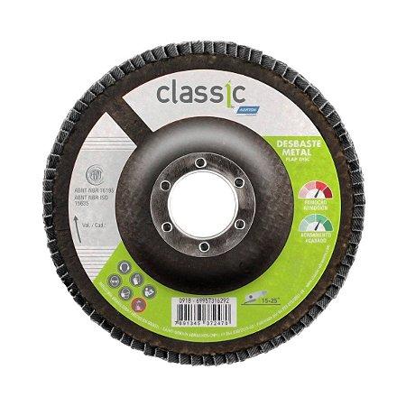Disco Flap Norton Classic 115x22,23mm Grão 60 Embalagem com 10 Unidades