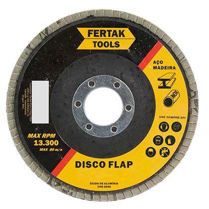 Disco Flap Fertak Cônico 115x22,23mm Grão 80 Embalagem com 10 Unidades