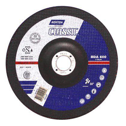 Disco de Desbaste Norton Classic BDA600 115x22,2mm Embalagem com 10 Unidades